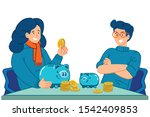 confidence in saving and... | Shutterstock .eps vector #1542409853