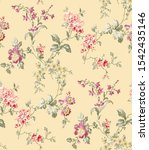 seamless floral pattern with... | Shutterstock . vector #1542435146