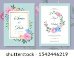 beautiful wedding invitation... | Shutterstock .eps vector #1542446219