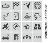 vector black navigation icons... | Shutterstock .eps vector #154245059