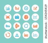 graph icon set | Shutterstock .eps vector #154245419