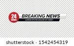 tv news bar. lower third tv... | Shutterstock .eps vector #1542454319