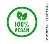 100  vegan food diet icon.... | Shutterstock .eps vector #1542455153
