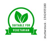 suitable for vegetarian icon.... | Shutterstock .eps vector #1542455180