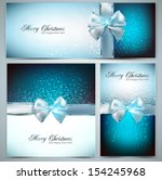 holiday banners with ribbons....