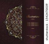 vintage background mandala card ... | Shutterstock .eps vector #1542470039