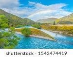 Rainbow Over River Rakaia In...