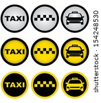 set of colorful taxi signs with ... | Shutterstock .eps vector #154248530