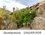 Small photo of Town houses Patones de Arriba in the province of Madrid, Spain.