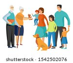 big family. father and mother ... | Shutterstock .eps vector #1542502076