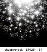 christmas snow background | Shutterstock .eps vector #154254434