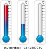 thermometers in three degree... | Shutterstock .eps vector #1542557750