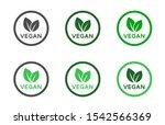 vegan food diet icon set.... | Shutterstock .eps vector #1542566369