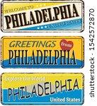 Philadelphia Vintage Tin Sign...