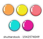 colorful of cartoon buttons set....