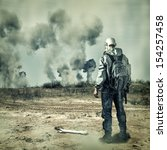 Post Apocalypse. Man In Gas...