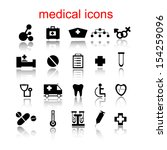 medical icons  labels | Shutterstock .eps vector #154259096