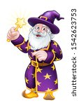 A Cute Wizard Cartoon Character ...