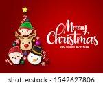 christmas tree vector... | Shutterstock .eps vector #1542627806
