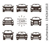 front view of car silhouettes   ... | Shutterstock .eps vector #1542641813