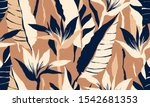 modern exotic jungle plants... | Shutterstock .eps vector #1542681353