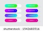 raster set of modern gradient... | Shutterstock . vector #1542683516