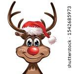 Front Reindeer Red Hat...