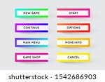 raster set of modern gradient...