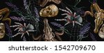 gothic embroidery. human skulls ... | Shutterstock .eps vector #1542709670