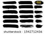 Black Ink Vector Brush Strokes. ...