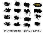 black ink vector brush strokes. ... | Shutterstock .eps vector #1542712460