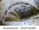 Stone Spiral Staircase With...