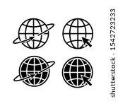 globe symbol silhouette world... | Shutterstock .eps vector #1542723233