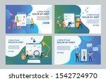 internet store management set.... | Shutterstock .eps vector #1542724970