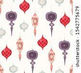 christmas vintage seamless...   Shutterstock .eps vector #1542775679