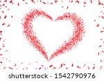 heart confetti isolated white... | Shutterstock . vector #1542790976