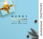 merry christmas and happy new... | Shutterstock .eps vector #1542791453