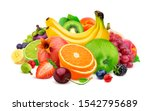 Fruits And Berries Isolated On...