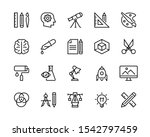 design icon set. collection of... | Shutterstock .eps vector #1542797459