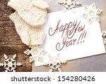 christmas card with message... | Shutterstock . vector #154280426