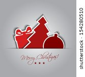 christmas card with decoration... | Shutterstock .eps vector #154280510
