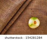 clean onion on burlap sack...