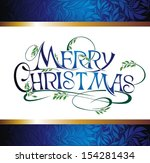 merry christmas    Shutterstock .eps vector #154281434