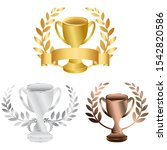 prize winning places gold... | Shutterstock .eps vector #1542820586