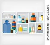 medicine cabinet | Shutterstock .eps vector #154282298