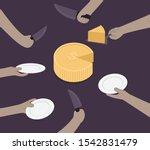 investment concept.money cake... | Shutterstock .eps vector #1542831479