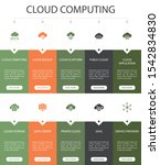 cloud computing infographic 10... | Shutterstock .eps vector #1542834830