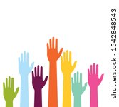 colorful up hand background... | Shutterstock .eps vector #1542848543