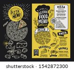 pizza menu template for... | Shutterstock .eps vector #1542872300