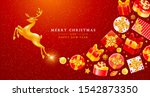 merry christmas and happy new... | Shutterstock .eps vector #1542873350